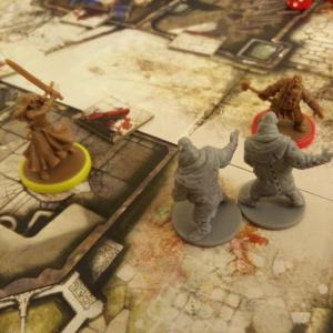 The Crafty Players Zombicide Black Plague Heroes Fight Fatties
