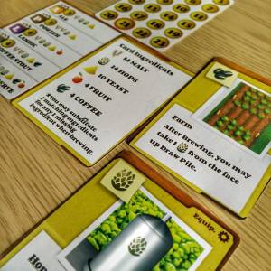 The Crafty Players Brew Crafters Card Game Tableau
